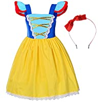 Party Chili Toddler Girls Princess Costume for Birthday with Headband 3-4 Years (3T 4T)