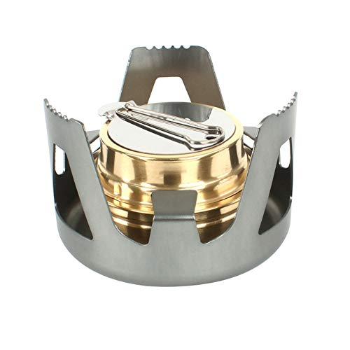 millet16zjh Outdoor Portable Alcohol Stove Burner Furnace Hiking Camping Picnic Cooking Tool - Grey
