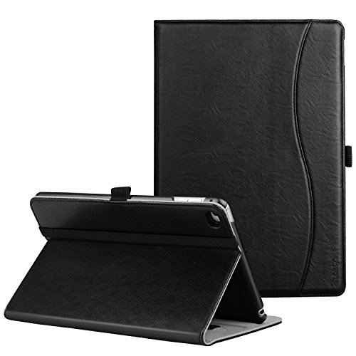 Ztotop iPad Mini 4 Case, Premium Leather Folio Stand Protective Case Smart Cover with Multi-Angle Viewing, Paperwork Card Pocket, Functional Elastic Strap for Apple iPad Mini 4 - Black