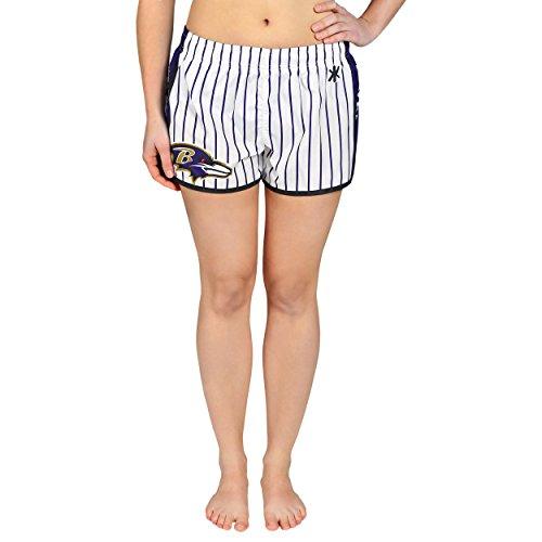 Baltimore Ravens Womens Pinstripe Polyester Short Large