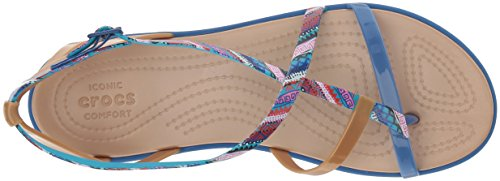 Pictures of Crocs Women's Isabella Gladiator Graphic Sandal 205146 2