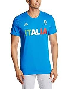 adidas - Camiseta para Hombre, diseño de Italia, Verano, Hombre, Color Shock Blue, tamaño Small