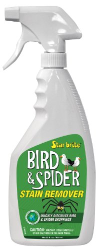 - Star Brite 095122P Spider and Bird Stain Remover, White, 22 oz.