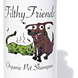 Filthy Friends Organic Pet Shampoo, Cleans Cats & Dogs with Ease, Rapidly Rinses, Lovingly Calms, Soothes and Conditions, Helps Remove Fleas Too! 12 OZ Lemon