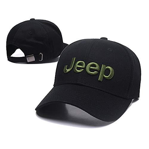 Car Logo Adjustable Baseball Cap, Unisex Hat Travel Cap Car Racing Motor Hat for Jeep - Black (Jeep Hat)