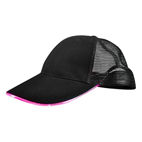 JIUDASG LED Lighted up Hat Glow Club Party Baseball Cotton Hip-Hop Adjustable Sports Cap (Pink Panther Club Cover)