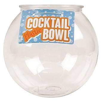 """Cóctel de plástico peces cuenco 6 """"pecera potable juegos Partido globo Punch"""