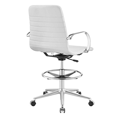 Modway EEI-2863-WHI Groove Ribbed Back, Drafting Chair, White by Modway (Image #4)