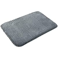 MAYSHINE Bath mats Bathroom rugs,Extra Soft, Absorbent, Densely woven Shaggy D8 Microfiber,Machine-Washable, Perfect Doormats Tub Shower(20X31 inch Gray)