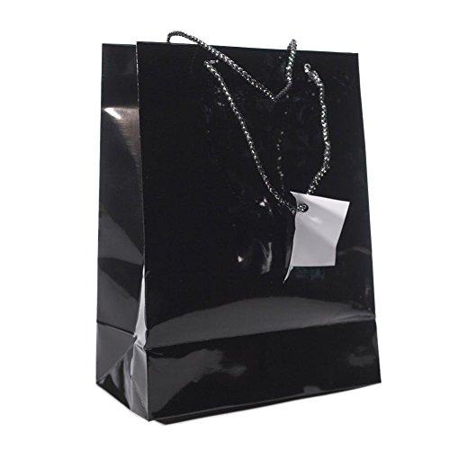 Medium Black Gift Bags Dozen product image