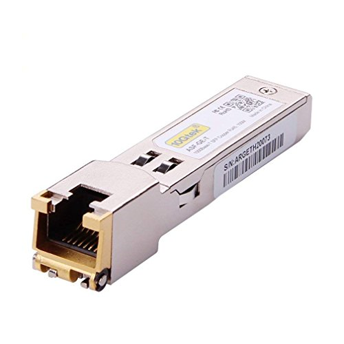 10Gtek for Cisco Compatible GLC-T/SFP-GE-T Gigabit RJ45 Copper SFP Transceiver Module, 1000Base-T by 10Gtek