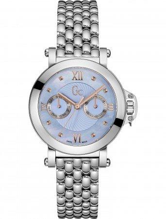 Guess Collection X40003L7S- Reloj de mujer de acero, correa de acero, cristal de
