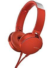 Sony Mdr-Xb550Ap Hoofdtelefoon (Extrabass, Headset Met Microfoon) Rood