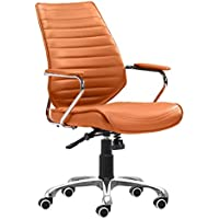 Zuo Enterprise Low Back Office Chair, Terracotta