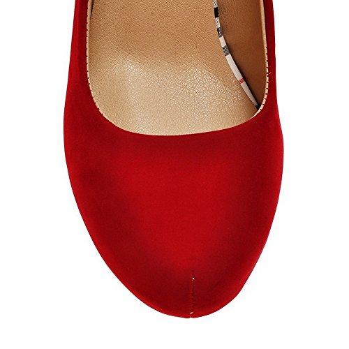 AllhqFashion Mujer Sin cordones Tacón Alto Sintético Colores Surtidos Puntera Cerrada De salón Rojo