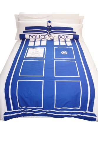 Doctor Parure de lit king size Motif Doctor Who Tardis