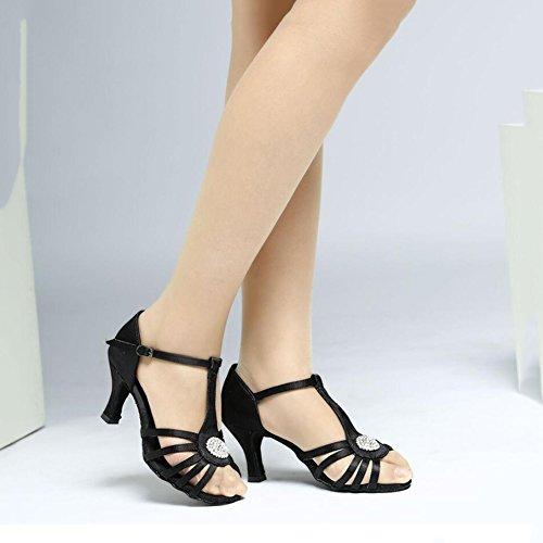 B Latin Damen Professional Ballroom Fersen Sekt Glitter XUE Performance Schuhe B Strass Größe Heel Funkelnde Sandale 37 Flared Farbe Schuhe Glitter qRwvdf45xf