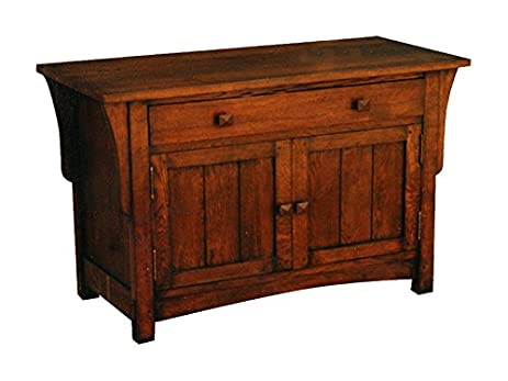 Etonnant Crafters And Weavers Mission Oak Sideboard Or Entry Way Cabinet