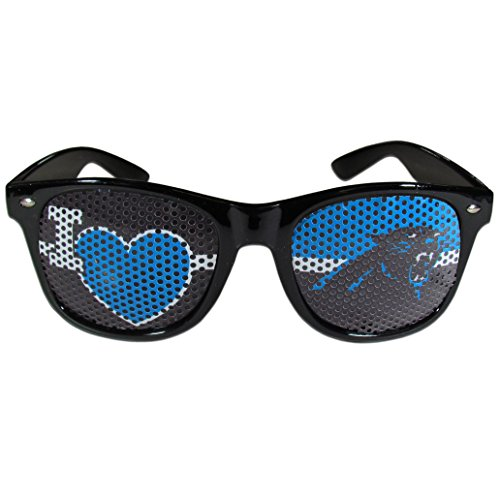 NFL Carolina Panthers I Heart Game Day Shades, Black, (Nfl Carolina Panthers Heart)