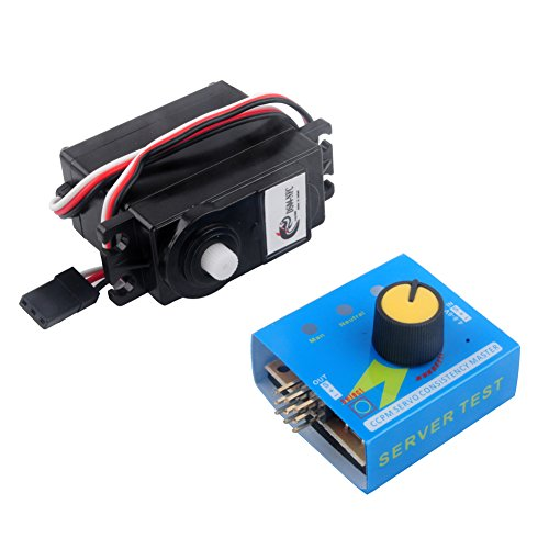 Price comparison product image DS04-NFC 360 Degree Continuous Rotation Servos and RC Servo Tester Power Channels CCMP Meter for Smart Car Robots Aerospace Model