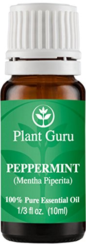 Peppermint Essential Oil 10 ml. 100% Pure Undiluted Therapeutic Grade Extract of Mentha Piperita, Great for Aromatherapy Diffuser, Skin Body and Hair.
