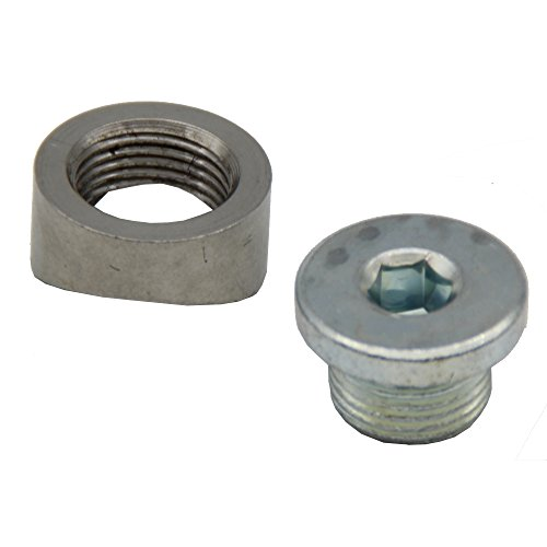 Ledaut M18X1.5 O2 Oxygen Sensor Bung Stepped Notched Style Mounting Bung And Plugs (1 Bungs/1 Plugs) ()