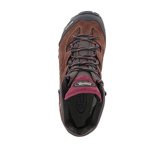 Senderismo de Zapatillas de para Piel Marrón Mujer Meindl Rojo TOEq1wq
