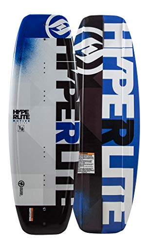Hyperlite 2019 Motive Jr Wakeboard 119 with Black Remix Boots 4-8 (Best Wakeboard For Beginners 2019)