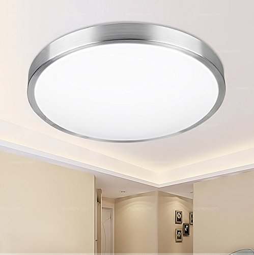 Lilamins Modern Round Simple Led Ceiling Lamp Bedroom Balcony Study Led Eye Protection Aluminum Ceiling Lamp, 30Cm (Ceiling Fan Aluminum Patio Mount Cover)