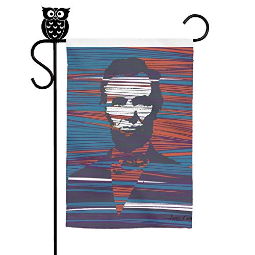 LAIDIAN Welcome Garden Flag 12 18 Inch Abraham Lincoln Poster Artist Singh Polyester Decorative Flags