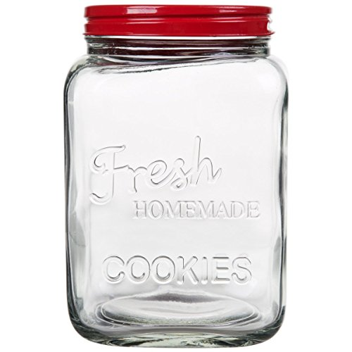 Home Essentials 1375-HE Home Décor Product (Cookie Jar Red)