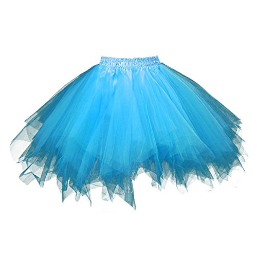 Honeystore Women's Short Vintage Ballet Bubble Puffy Tutu