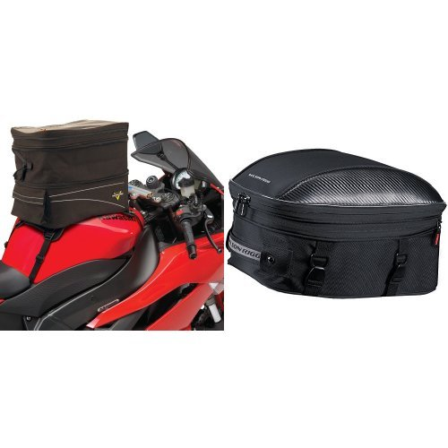 Nelson-Rigg CL-903 Black Expandable Tank/Tail Bag and CL-1060-ST Black Sport Touring Tail/Seat Pack Bundle