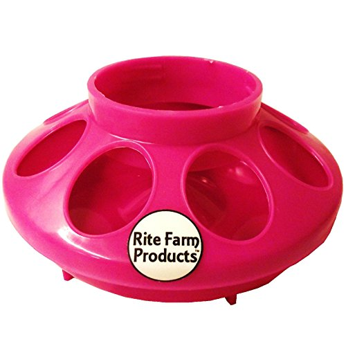 PINK-RITE-FARM-PRODUCTS-FEEDER-BASE-FOR-POLYGLASS-QUART-JAR-POULTRY-CHICKEN