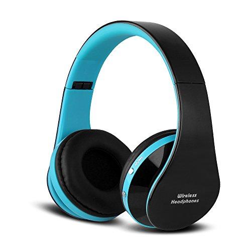 FX-Viktaria Dual Mode Wireless Headset, On Ear Headphone Foldable,Stereo Headset – Black blue06