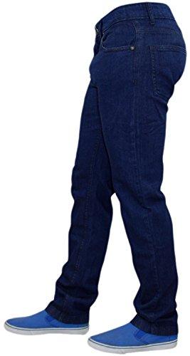 Coton Foncé Homme Coupe Face Skinny Jean Denim True Extensible Pour Bleu vwAxx0q