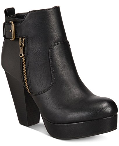Material Girl Womens Raelyn Closed Toe Ankle Fashion Boots Black kR1Urcp