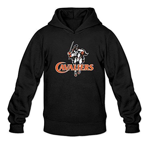 Men's Virginia Cavaliers UVA Mascot Logo Hooded Sweatshirt (Sunshade Virginia University)