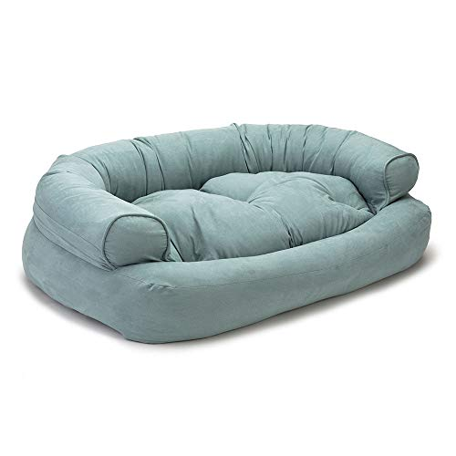 Snoozer Pet Products - Overstuffed Luxury Dog Sofa | Large-Aqua