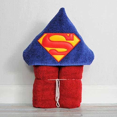 Steel Super Hero Logo Hooded Bath Towel - Baby, Child, Tween -