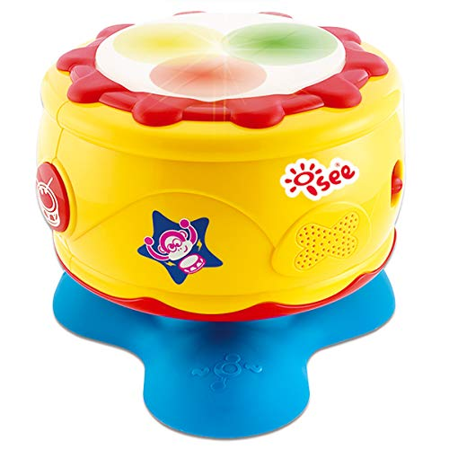 ISEE Baby Toys 6 to 12 Months | Infant Bongo Drum Musical Activity | 1 Year Old Girl Gifts | Educational Music Light-Up Sounds Help Develop Motor Skills