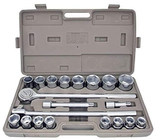 "SAE 3/4"" Drive Socket Set 21 pcs.w Storage Case Jumbo Ratchet Wrench Extension,Jikkolumlukka from Jikkolumlukka"