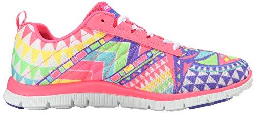 APPEAL para CITY Pink Rainbow FLEX deporte de PRETTY skechers Hot mujer Zapatillas Uw5qxBCx0