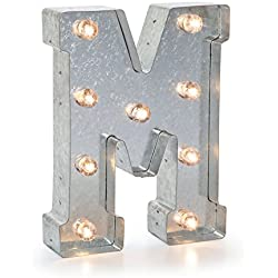 """Darice 5915-714 Silver Metal Marquee Letter 9.875""""-M"""