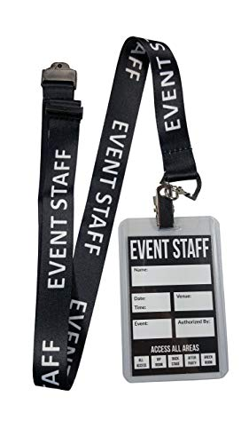 (Event Staff Lanyard with Plastic Holder & Card Pass. Great for Parties, Events, Social Occasion (25)