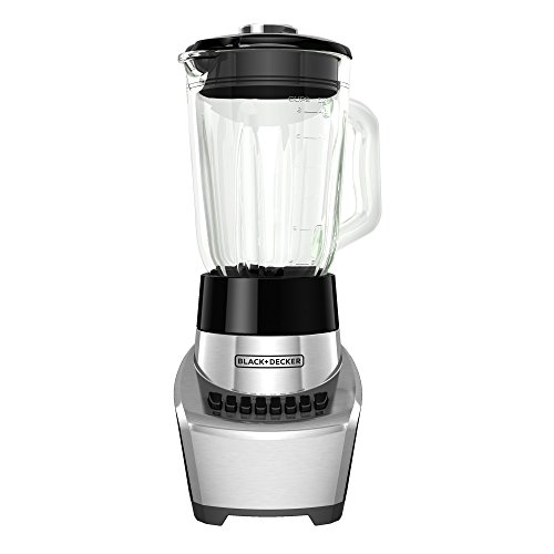 BLACK+DECKER FusionBlade Blender with 6-Cup Glass Jar, 12-Speed Settings, Silver, BL1111SG (Replacement Jar Black Decker)