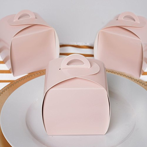 BalsaCircle 25 Blush Cupcake Purse Wedding Favors Boxes for Wedding Party Birthday Candy Gifts Decorations Supplies Wholesale