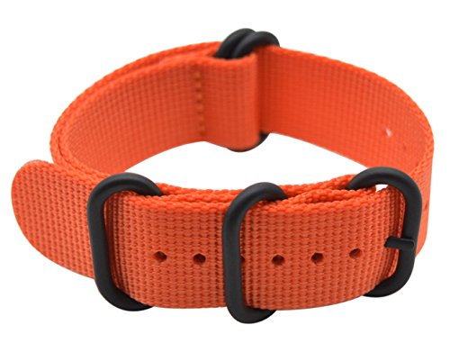ArtStyle Watch Band with Thick Nylon Material Strap and High-End Black Buckle