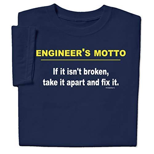 ComputerGear Funny Engineer's Motto T Shirt Engineering Geek Nerd Broken Fix, L ()