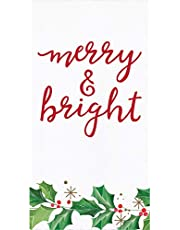 Christmas Holiday Guest Towels - 32 CT | Decorative Paper Napkins for Buffet Kitchen or Bathroom Fingertip Hand Towels